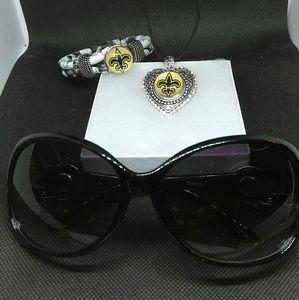 1f6a479ae57b Accessories | New Orleans Saints Sunglasses Set | Poshmark